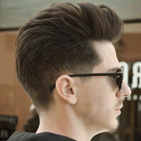 Classic Taper Haircut with Modern Pompadour