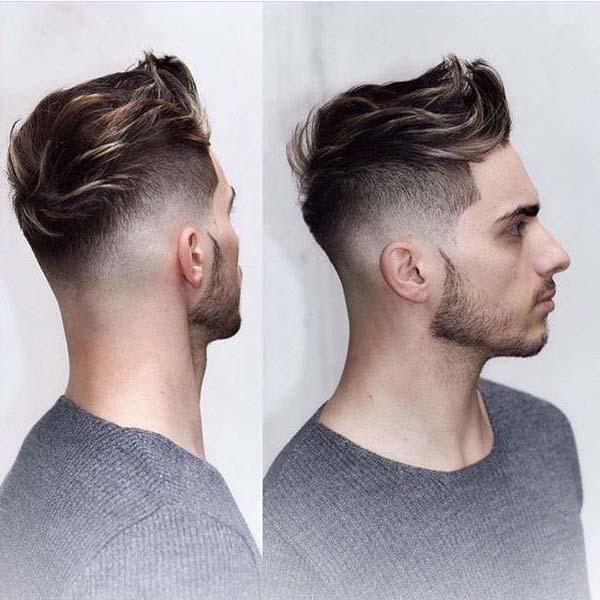 Highlight Taper Fade Haircut
