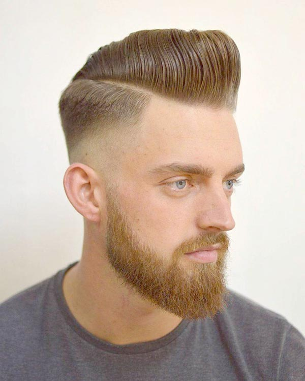 Low Classic Taper Fade with Beard