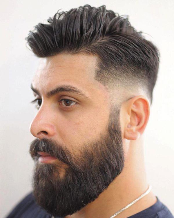 Low Taper Fade with the Beard