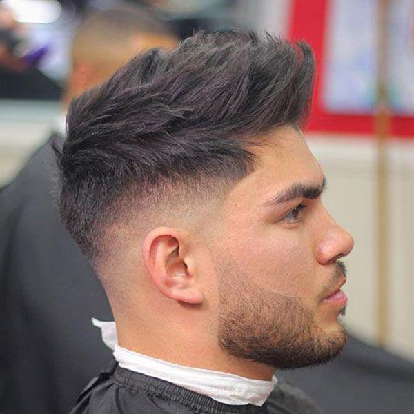 Taper Fade Haircut with Spiky High Top